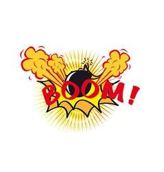 Boom pop art vector