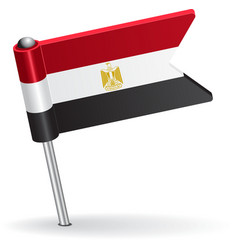 Egyptian pin icon flag vector