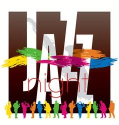 jazz poster 02 vector image