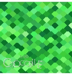 Bright green crocodile scales vector