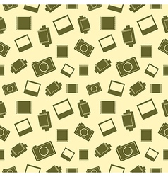Seamless pattern with elements of retro vector