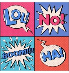 Set of Comics Bubbles in Pop Art Style vector image