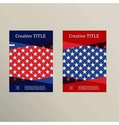Brochure cover template usa flag design vector
