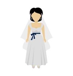 Woman bride character vector