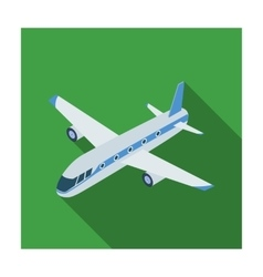 Airplane icon in flat style isolated on white vector