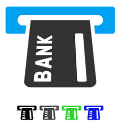 Banking atm flat icon vector
