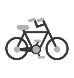 Bicycle sport vehicle icon vector