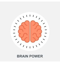 Brain Power vector image vector image