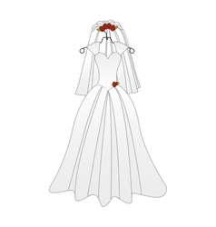 bride cartoon icon image vector image