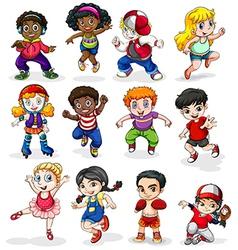 Energetic kids vector