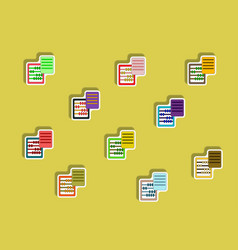 Flat icons set of abacus and blank concept in vector