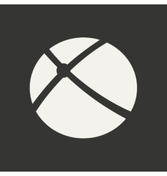 Flat in black and white mobile application orbital vector