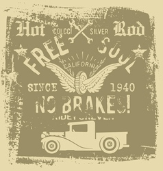 free soul hot rod vector image