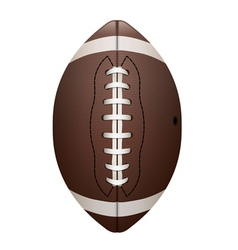 Front view of american football isolated vector