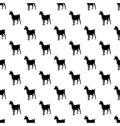 Goat pattern seamless vector image