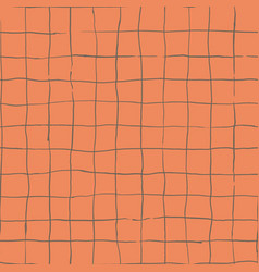 Hand drawn checkered grip seamless pattern vector