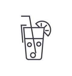 juice glassdrinks line icon sign vector image