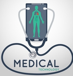 Medical technology poster vector