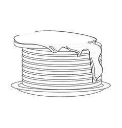 pancakes with syrup icon vector image vector image