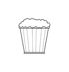 Pop corn line icon vector