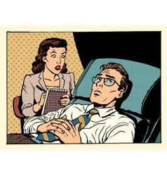 Psychologist female patient male sympathy vector