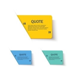 Quote forms set on paper banner vector image