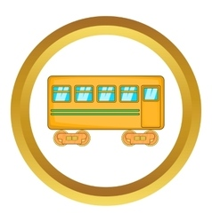 Rail car icon vector