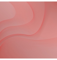 red background with waves vector image