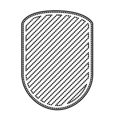 rounded shield in monochrome dotted contour and vector image vector image