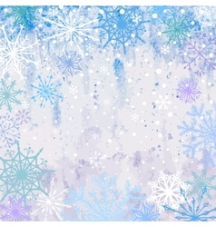Snowy Winter Background vector image