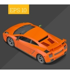 Sport car isometric vector