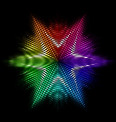 Star Multicolored mosaic vector image