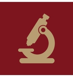 The microscope icon medicine and research vector