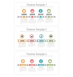 Timeline with Arrows vector image vector image