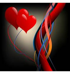 valentine theme vector image vector image