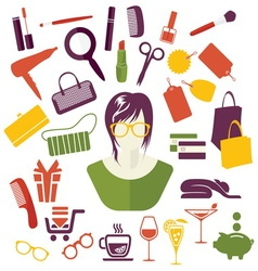 WOMAN GIRLS STUFF1 resize vector image
