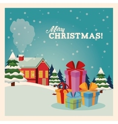 Gifts icon merry christmas design graphic vector