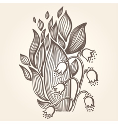 Lilies of the valley flower vector