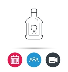 Mouthwash icon oral antibacterial liquid sign vector