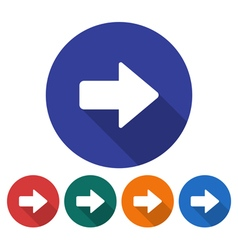 Right direction arrow icon vector
