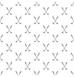 Two golf clubs pattern vector