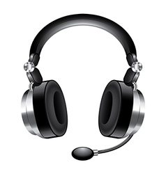 Object headphones vector