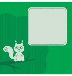 squirrel frame vector image