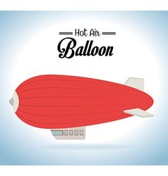 Hot air balloon design vector