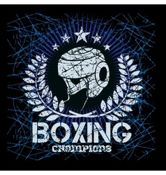 Boxing labels on grunge background vector