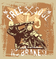 vintage motorcycle road race vector image