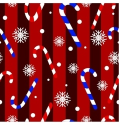 Cute christmas seamless pattern with candy canes vector