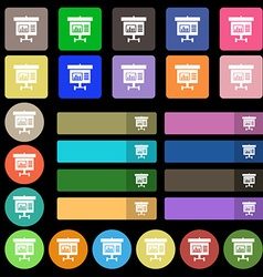 Graph icon sign set from twenty seven multicolored vector