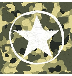 Army star on camouflage vector