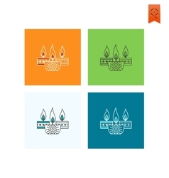 Diwali Indian Festival Icon vector image
